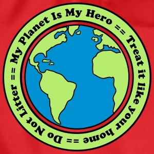My Planet is my Hero T-shirts - Gymnastikpåse