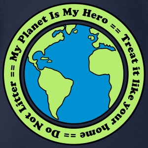 My Planet is my Hero Camisetas - Body orgánico de maga corta para bebé