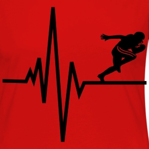Heart beats for Football T-Shirts - Frauen Premium Langarmshirt
