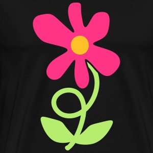 Flower Twirl Long Sleeve Shirts - Men's Premium T-Shirt
