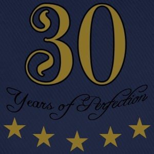 30 Years Perfektion Perfection Sterne T-Shirts - Baseballkappe