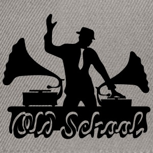 DJ Old School, Gramophone, swing, music, dance Tröjor - Snapbackkeps