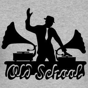 DJ Old School, Gramophone, swing, music, dance Hoodies & Sweatshirts - Men's Slim Fit T-Shirt