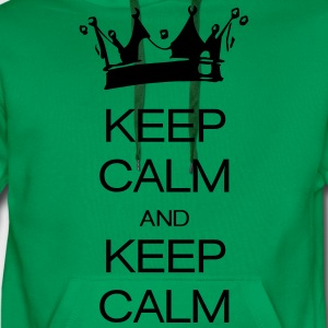 keep calm and keep calm Camisetas - Sudadera con capucha premium para hombre