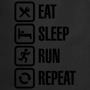 Eat sleep run repeat Camisetas - Delantal de cocina