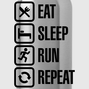 Eat sleep run repeat Camisetas - Cantimplora