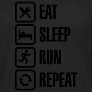 Eat sleep run repeat Camisetas - Camiseta de manga larga premium hombre
