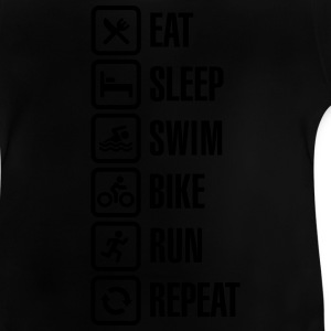 Eat sleep swim bike run repeat - triathlon Shirts - Baby T-Shirt
