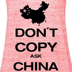 don´t copy ask china T-Shirts - Women's Tank Top by Bella