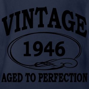 VINTAGE 1946 - Birthday - Aged To Perfection Shirts - Organic Short-sleeved Baby Bodysuit