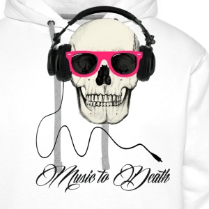 DJ SKULL Music to Death Tee shirts - Sweat-shirt à capuche Premium pour hommes
