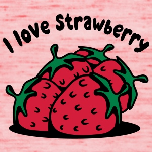 Strawberry fruit organic fruit T-Shirts - Women's Tank Top by Bella