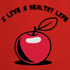 Healthy living Apple fruit T-Shirts - Cooking Apron