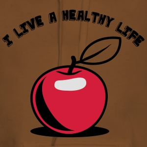 Healthy living Apple fruit T-Shirts - Women's Premium Hoodie