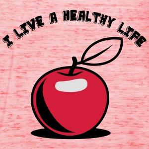 Healthy living Apple fruit T-Shirts - Women's Tank Top by Bella