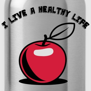 Healthy living Apple fruit T-Shirts - Water Bottle