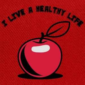 Healthy living Apple fruit T-Shirts - Snapback Cap