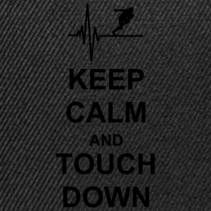Keep Calm and Touch Down T-Shirts - Snapback Cap