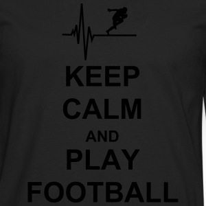 KeepCalm and PlayFootball Pullover & Hoodies - Männer Premium Langarmshirt