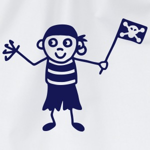 Pirate with flag Shirts - Drawstring Bag