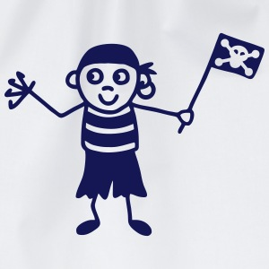 Pirate with flag T-Shirts - Drawstring Bag