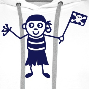 Pirate with flag T-Shirts - Men's Premium Hoodie