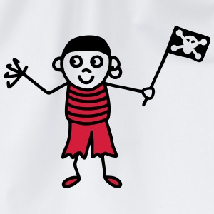 Pirate with flag - V2 T-Shirts - Drawstring Bag