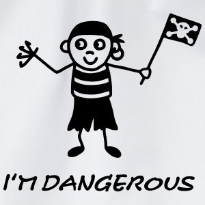 Pirate - dangerous T-Shirts - Drawstring Bag