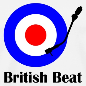 british beat Flaskor & muggar - Premium-T-shirt herr