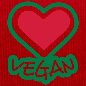Vegan love heart logo design T-Shirts - Winter Hat
