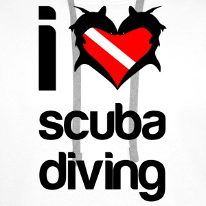 I Love Scuba Diving Cap - Men's Premium Hoodie