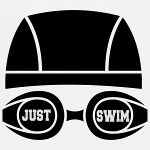 Just swim Flaskor & muggar - Premium-T-shirt herr