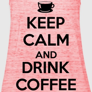 Keep calm and drink coffee T-shirts - Dame tanktop fra Bella