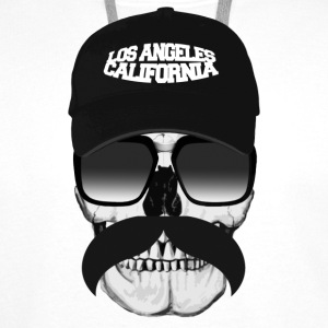 Skull California Badges - Sweat-shirt à capuche Premium pour hommes
