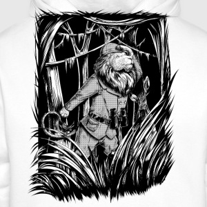 Wit King of the Jungle T-shirts - Mannen Premium hoodie
