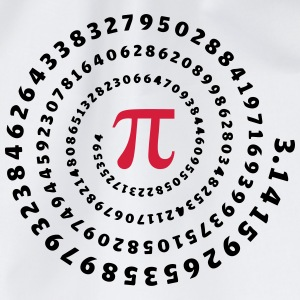 Math Pi π mathematics spiral irrational number  T-Shirts - Drawstring Bag