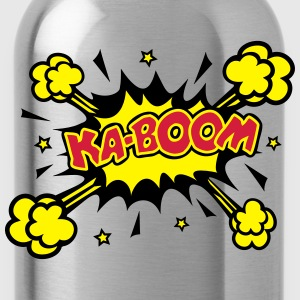 KABOOM, comic speech bubble, cartoon, word balloon Hoodies & Sweatshirts - Water Bottle
