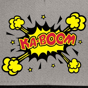 KABOOM, comic speech bubble, cartoon, word balloon Hoodies & Sweatshirts - Snapback Cap