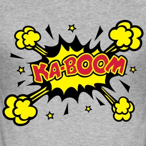 KABOOM, comic speech bubble, cartoon, word balloon Tröjor - Slim Fit T-shirt herr