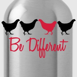 Be Different Huhn mit Text T-Shirts - Trinkflasche