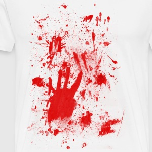 Splashes of blood / blood Smeared Langarmshirts - Männer Premium T-Shirt