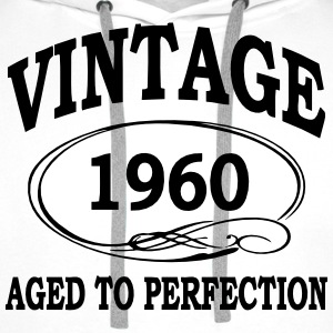 Vintage 1960 Aged To Perfection Long Sleeve Shirts - Men's Premium Hoodie