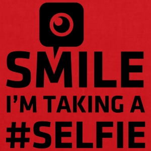 Love taking Selfie photo camera instagram smile Camisetas - Bolsa de tela