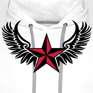 Nautical Star - Protection Symbol - Tattoo Style T-Shirts - Men's Premium Hoodie