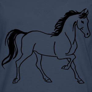 Cheval au trot Tee shirts - T-shirt manches longues Premium Homme