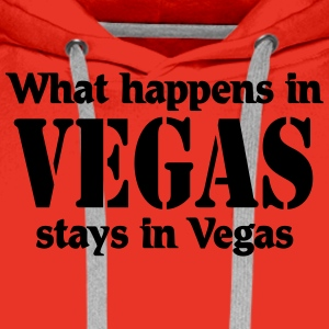 What happens in Vegas, stays in Vegas T-shirts - Premiumluvtröja herr