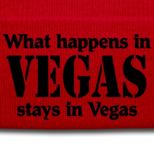 What happens in Vegas, stays in Vegas Magliette - Cappellino invernale