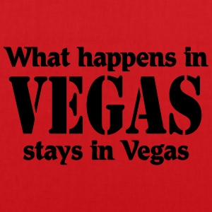 What happens in Vegas, stays in Vegas T-skjorter - Stoffveske