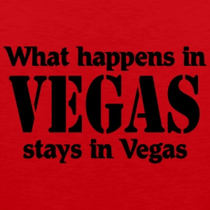 What happens in Vegas, stays in Vegas T-shirts - Herre Premium tanktop