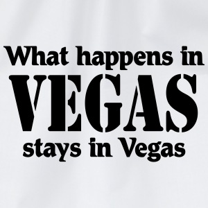 What happens in Vegas, stays in Vegas Shirts met lange mouwen - Gymtas